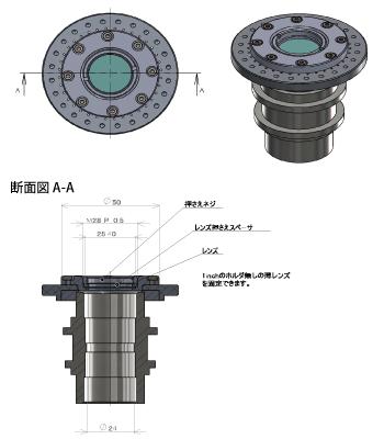 中空モータ光学素子搭載応用例(偏光板応用例)
