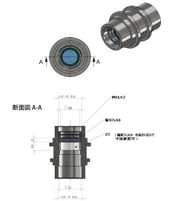 中空モータ光学素子搭載応用例(波長板応用例)
