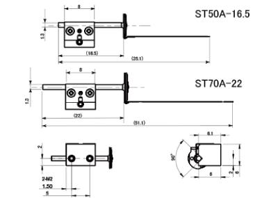TULA評価キット ST50A-16.5型/ST70A-22型寸法図
