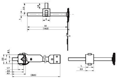 TULA評価キット 35B-14型寸法図