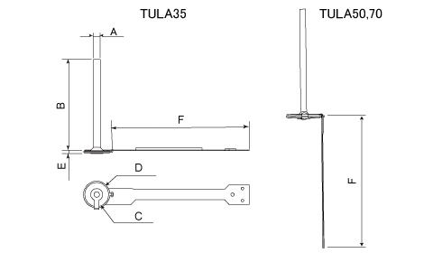 TULA35, 50, 70寸法図